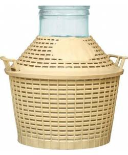 Klaaspudel plastikkorvis 5L Ø116мм