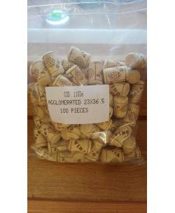 Wine cork 38 mm pressed 100 pieces