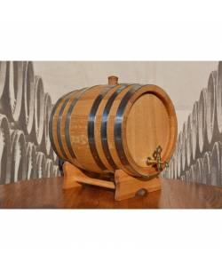 Oak barrel 11L with crane and 6 stainless steel rings