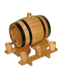 3 litres Oak Barrel + 6 glasses of oak