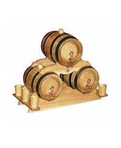 PYRAMID 3 x WOOD BARREL 1 litre