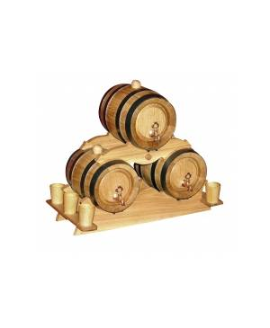 PYRAMID 3 x WOOD BARREL 2 litre