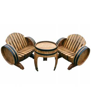 Coffee table + 2 chairs