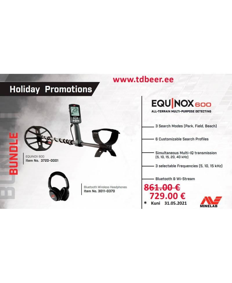 Minelab Equinox 600 + Bluetooth Wireless Headphones Promotions
